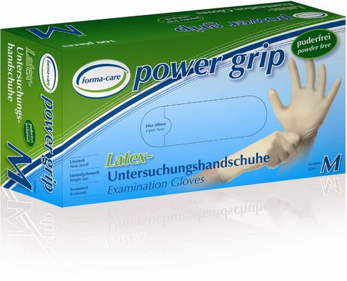 Latexhandschuhe forma-care Power Grip, 100 Stück
