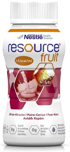 Resource Fruit Birne Kirsche, 6 x 4 x 200 ml
